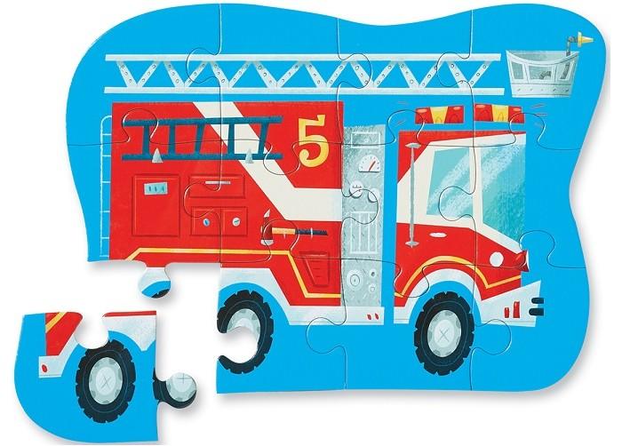 Пазлы, Crocodile Creek Пазл Пожарная машина (12 деталей)  - купить со скидкой