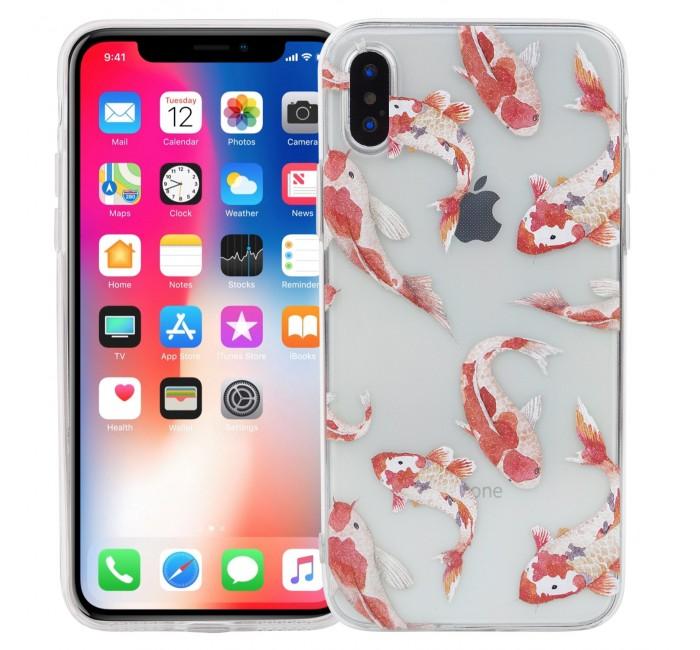 Аксессуары для электроники Kawaii Factory Чехол для iPhone X/XS Рыбки зонты kawaii factory трость рыбки