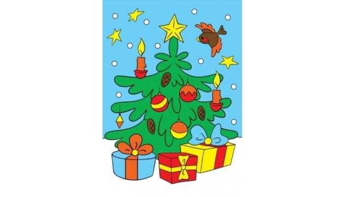 Фото - Картины своими руками Рыжий кот Алмазная мозаика Подарки под ёлочкой 22х32 см рыжий кот мозаика круглая 110 фишек м 5656