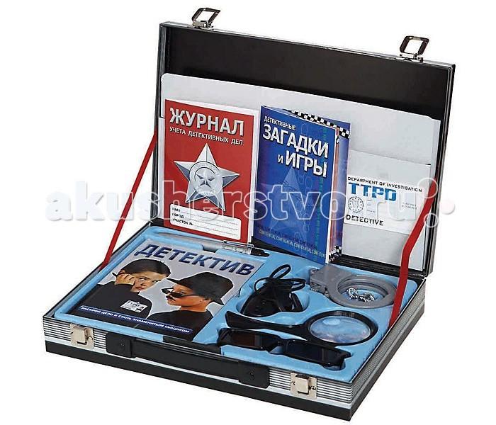 Fantastic Чемодан детективаЧемодан детективаFantastic Чемодан детектива - отличный выбор мальчишке от 8 лет и старше. Все по-настоящему! Наручники, подслушивающее устройство,ручка-фонарик, лупа, учебник юного детектива, служебное удостоверение и даже журнал расследований! Товар упакован в большой черный чемоданчик, который закрывается на защелки.<br>