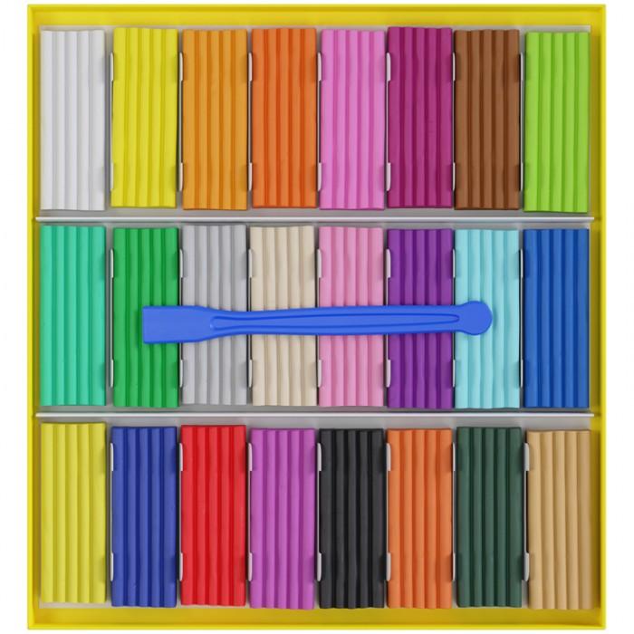 Гамма Пластилин восковой мягкий Юный художник 24 цвета