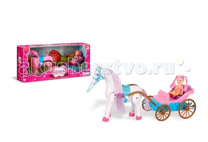 Zhorya Игровой набор Карета с лошадью