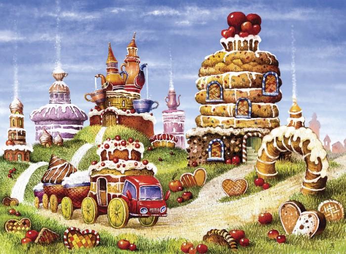 Деревянные игрушки Davici Пазл Бисквитные горки (170 элементов)