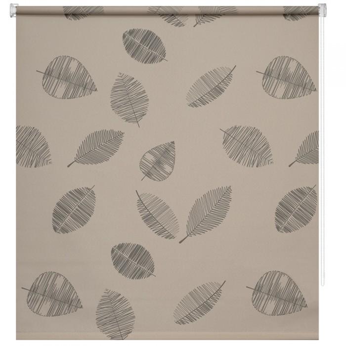 Купить Шторы, DECOFEST Рулонная штора Принт Листья Мини 160х120 см