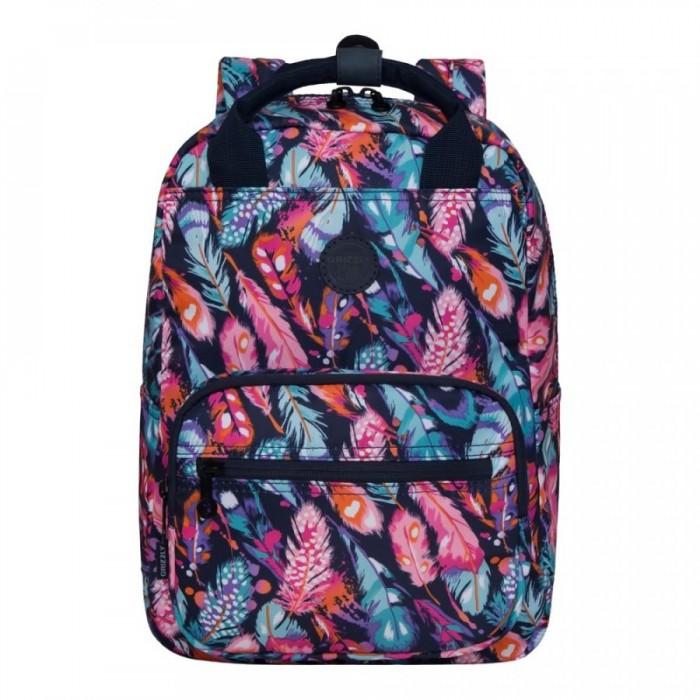 Школьные рюкзаки Grizzly Рюкзак Перья RX-026-4 рюкзак grizzly rx 022 8 1 перья