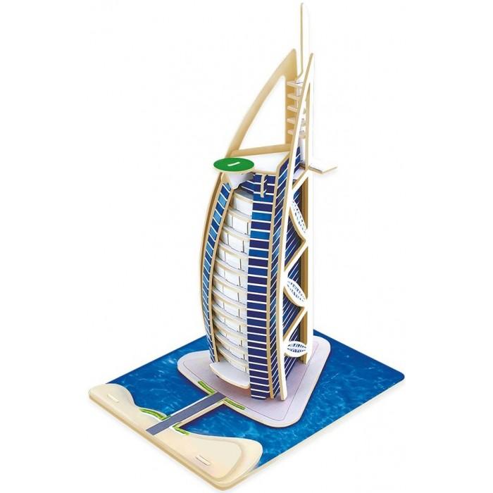 Картинка для Robotime Пазл деревянный 3D Отель Парус