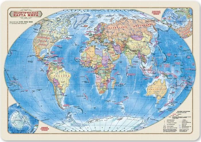 Фото - Пазлы Геодом Карта-пазл Мир политический (260 деталей) пазлы геодом карта пазл россия политическая 260 деталей