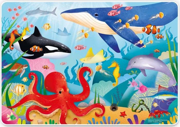 Фото - Пазлы Геодом Карта-пазл Подводный мир (260 деталей) пазлы геодом карта пазл россия политическая 260 деталей