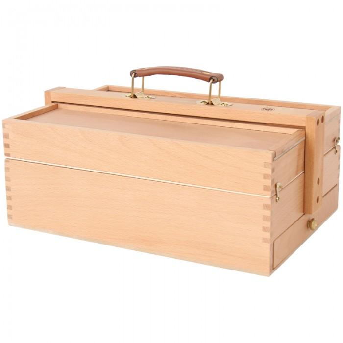 Гамма Ящик художника большой с ячейками для кистей и красок