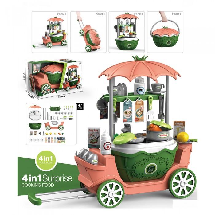 Ролевые игры Pituso Игровой набор Кухня на колесиках 4 в 1 (47 элементов) недорого