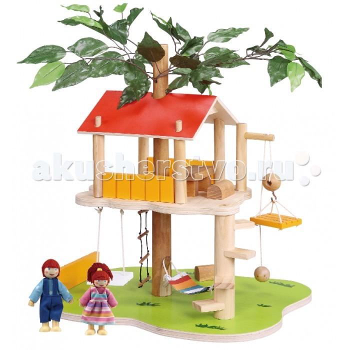 Balbi Набор игровой Домик на дереве TT-060Набор игровой Домик на дереве TT-060Balbi Набор игровой Домик на дереве TT-060. Интересный Дом на дереве для кукол, расположенный на высоте от земли. Великолепно создаёт атмосферу приключений и позволяет детям играть с фантазией.   В набор помимо дома входят: 2 фигурки людей, верёвочная лестница, качели, гамак и настоящий подъёмный механизм.   Набор изготовлен из дерева, некоторые элементы из ткани, металла и пластика. Для сборки потребуется не более 10 минут, а качественная обработка всех деталей набора обеспечивает полную безопасность.<br>