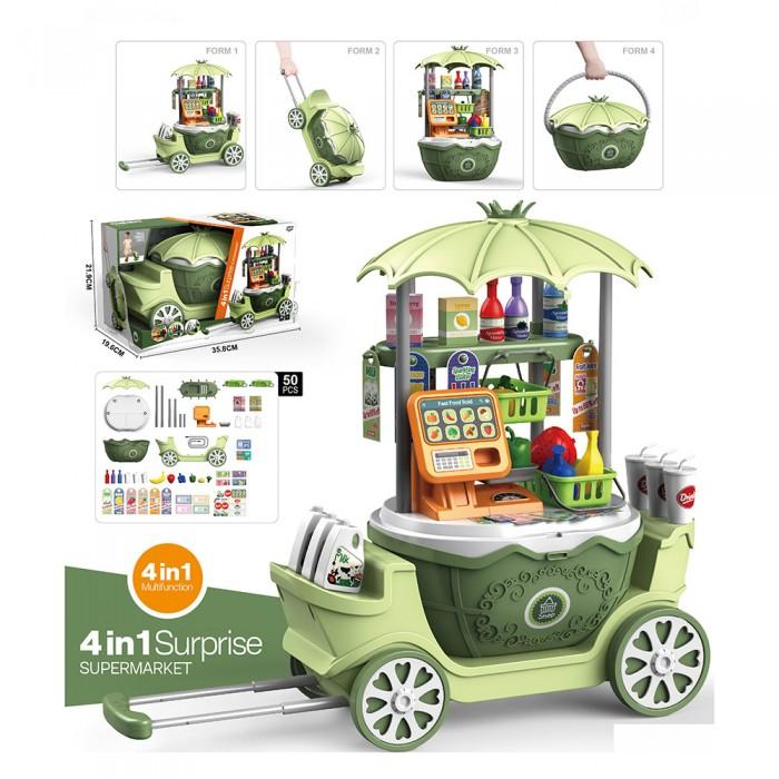 Ролевые игры Pituso Игровой набор Супермаркет на колесиках 4 в 1 (50 элементов) недорого