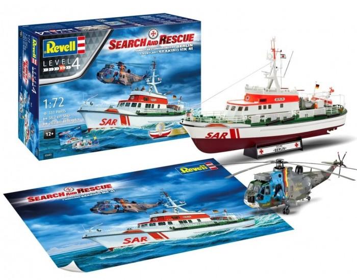 Купить Сборные модели, Revell Набор со сборной моделью корабля DGzRS Arkona и вертолета Westland Sea King Mk 41