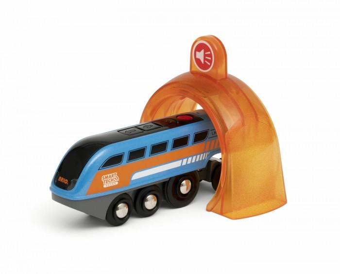 Купить Железные дороги, Brio Поезд Smart Tech Sound с интерактивным тоннелем с функцией звукозаписи