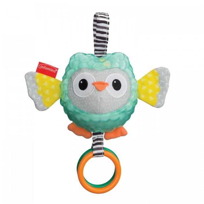 Купить Подвесные игрушки, Подвесная игрушка Infantino Сова с разными текстурами