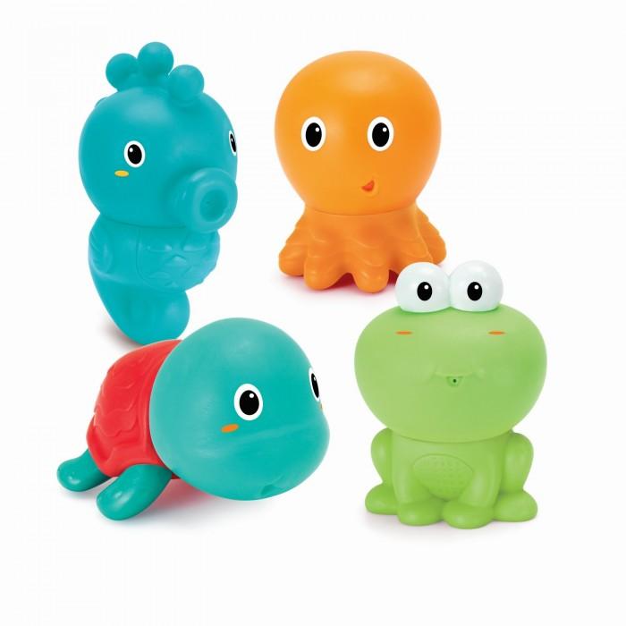 Купить Игрушки для ванны, Infantino Набор Забавные зверюшки для купания