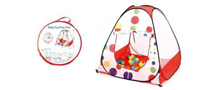 Палатки-домики Рыжий кот Палатка игровая Яркие шарики 90х90х90 см