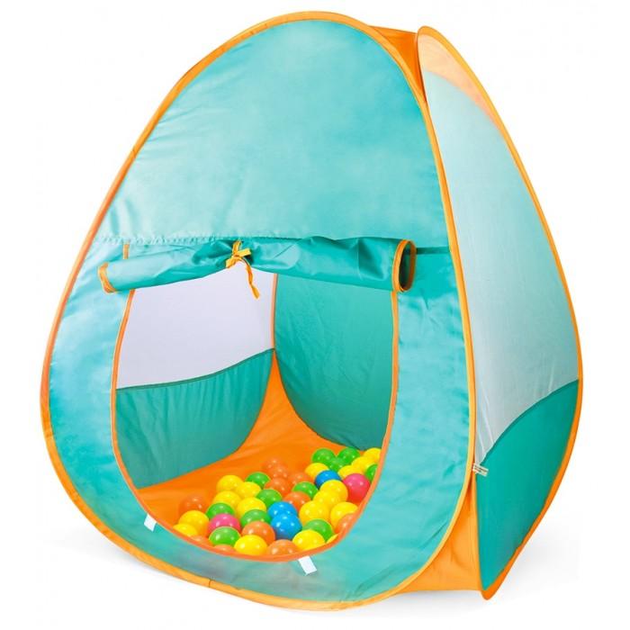 Палатки-домики Рыжий кот Палатка игровая Двухцветная 90х90х90 см