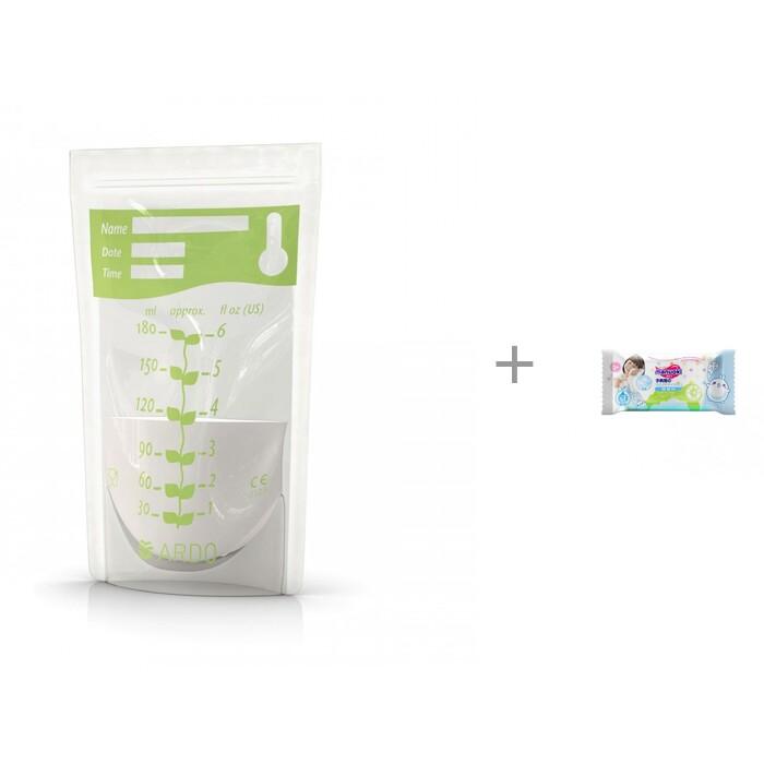 Купить Контейнеры, Ardo Easy Freeze Пакеты для замораживания грудного молока 20 шт. и влажные салфетки L 20 шт.