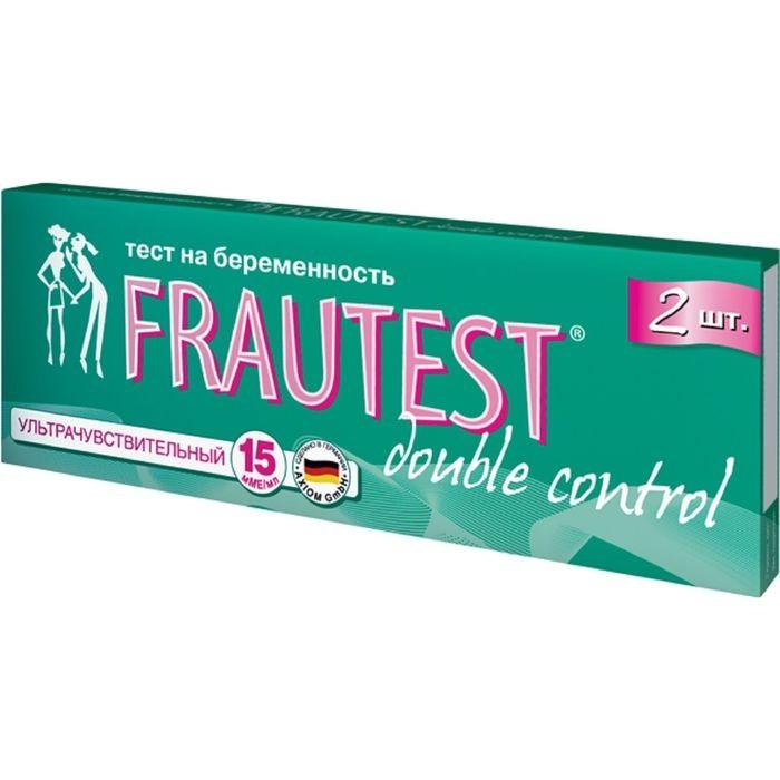 Аптечки Frautest Тест на определение беременности double control (тест-полоски) 2 шт.