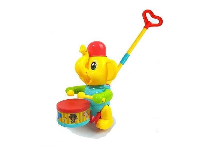 Фото - Каталки-игрушки Hairun Слоник с барабаном лиса с барабаном