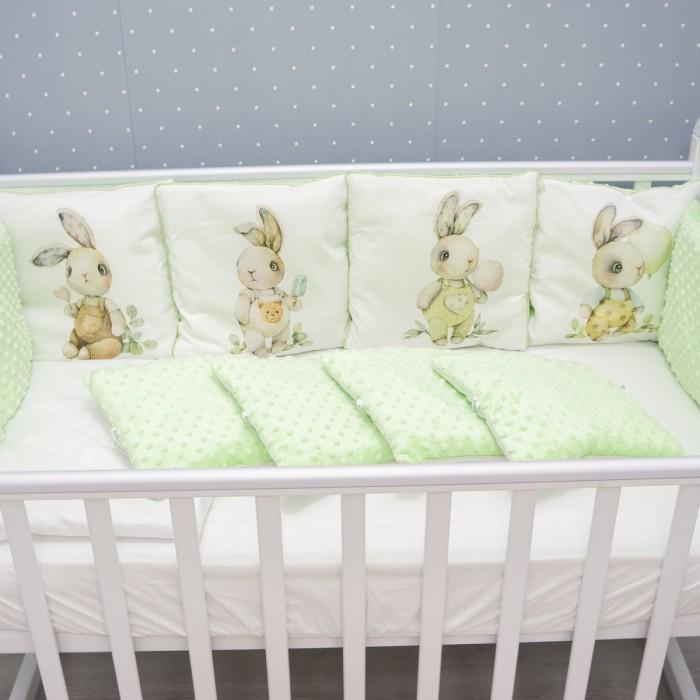 бортики в кроватку снолики совята Комплекты в кроватку Снолики Мамина кроха 4 предмета