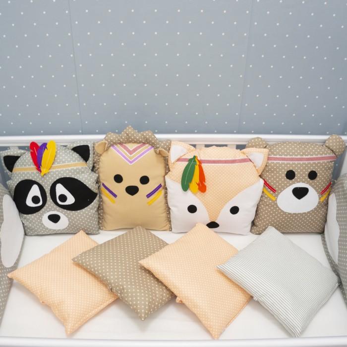 бортики в кроватку снолики совята Бортики в кроватку Снолики Лесные Охотники