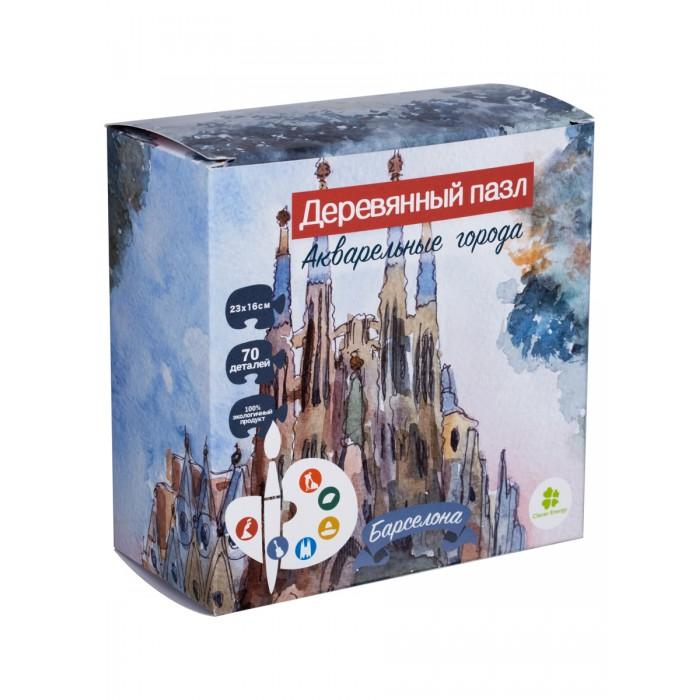 Деревянные игрушки Clever Energy пазл Акварельные города Барселона