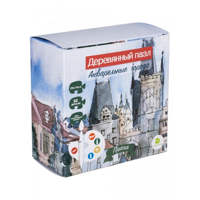 Деревянная игрушка Clever Energy пазл Акварельные города Прага