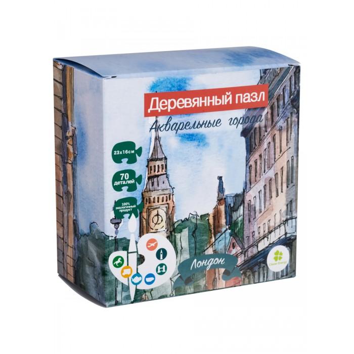 Деревянные игрушки Clever Energy пазл Акварельные города Лондон