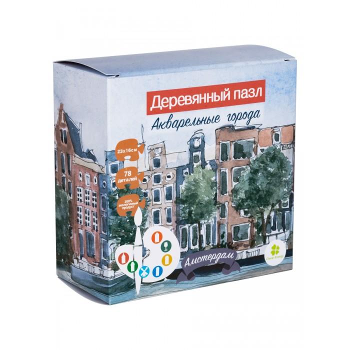 Деревянные игрушки Clever Energy пазл Акварельные города Амстердам