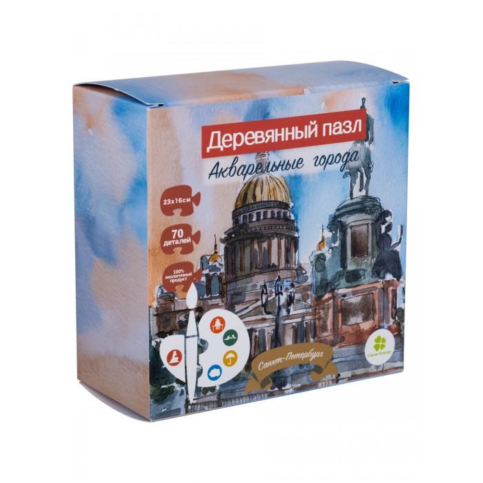 Деревянные игрушки Clever Energy пазл Акварельные города Санкт-Петербург