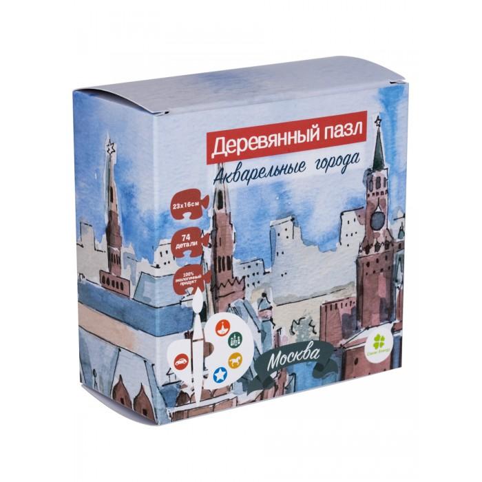 Деревянные игрушки Clever Energy пазл Акварельные города Москва