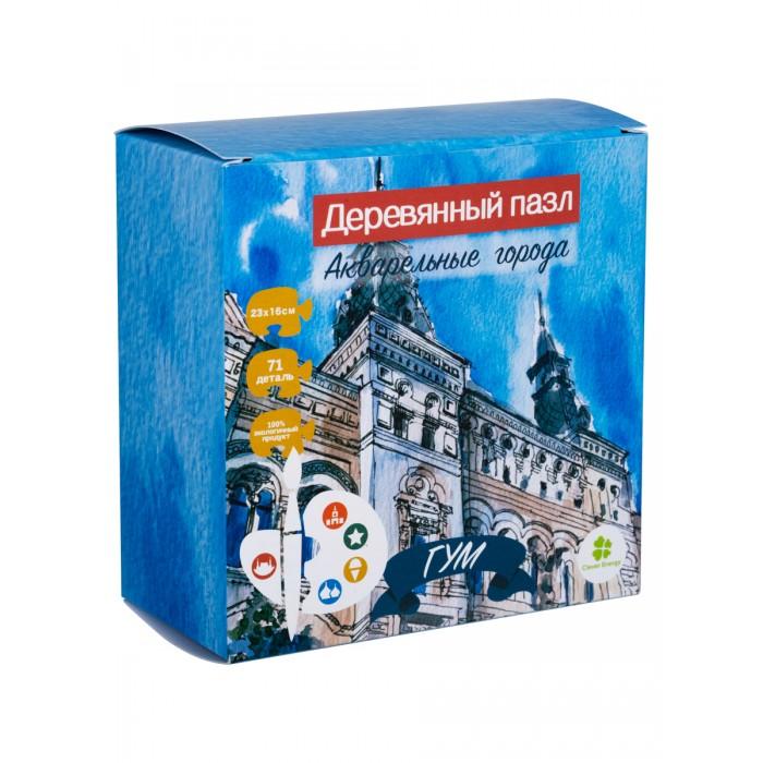 Деревянная игрушка Clever Energy пазл Акварельные города ГУМ