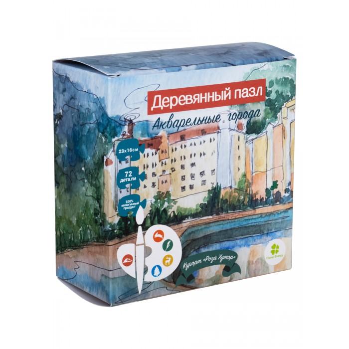 Деревянная игрушка Clever Energy пазл Акварельные города Курорт Роза Хутор