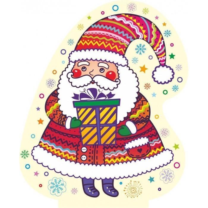 Новогодние украшения Учитель Модульная вырубная фигура на подставке Дед Мороз