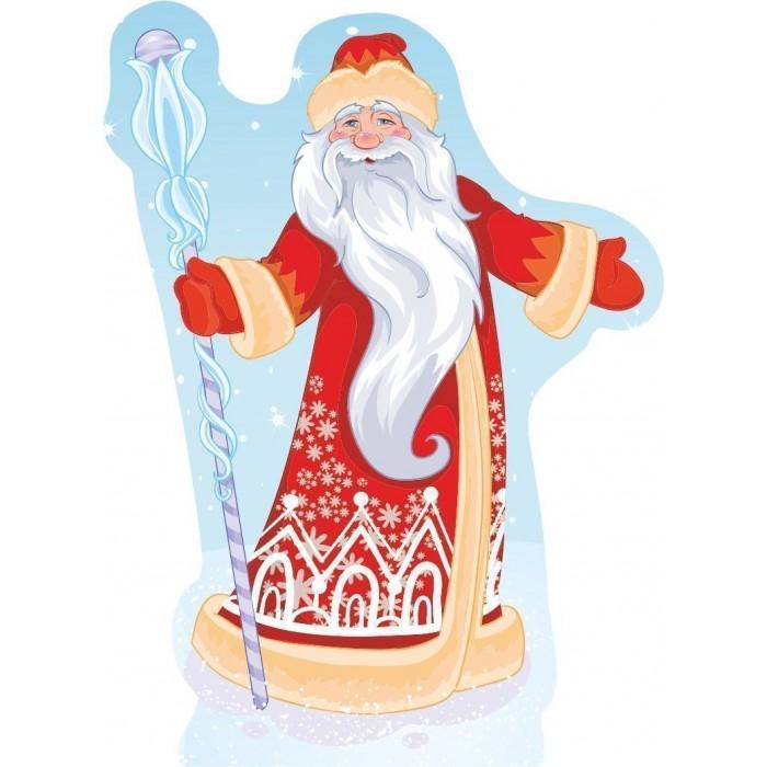 Новогодние украшения Учитель Модульная вырубная фигура на подставке Дедушка Мороз