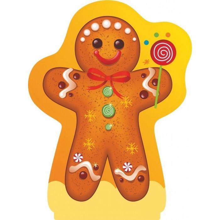 Новогодние украшения Учитель Модульная вырубная фигура на подставке Пряничный человечек