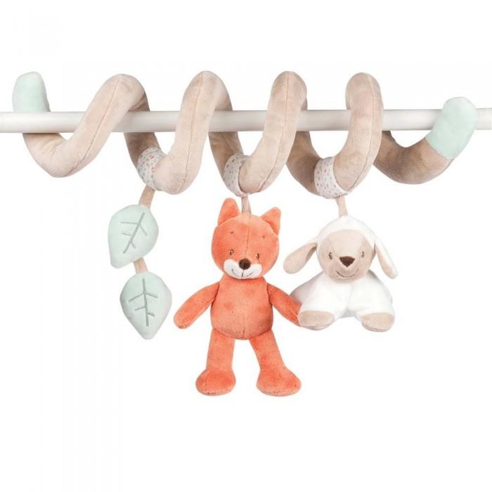 Подвесные игрушки Nattou Toy spiral Fanny & Oscar Оленёнок и Лисёнок 24 см мягкие игрушки nattou musical soft toy fanny