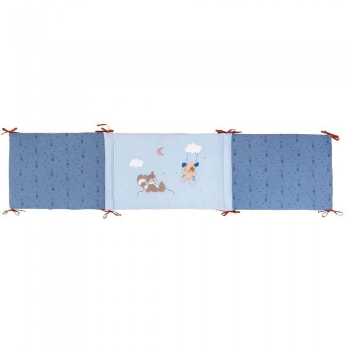 Бортики в кроватку Nattou Jim & Bob Собачка и Енот универсальный бортики в кроватку nattou jim