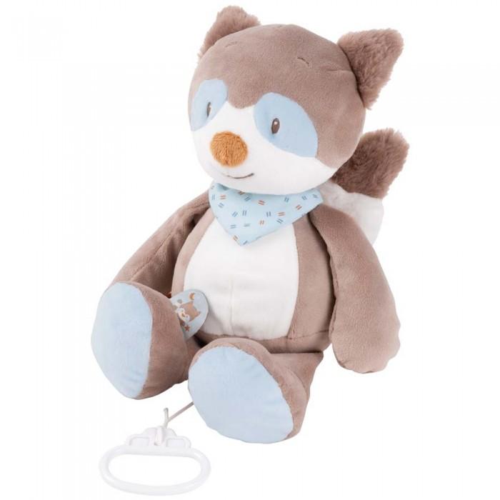 Мягкая игрушка Nattou Musical Soft toy Jim & Bob Енот музыкальная 21 см