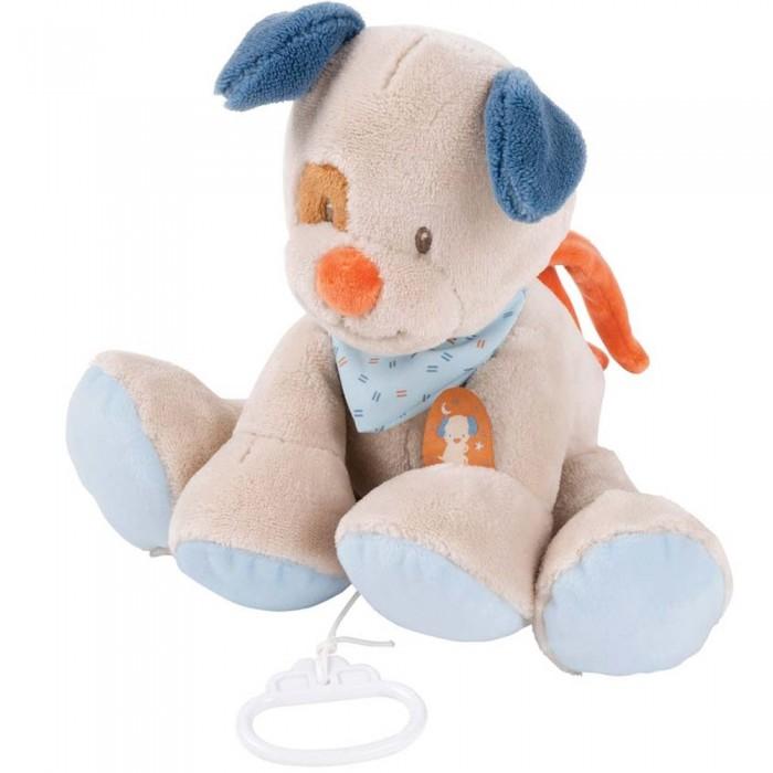 Купить Мягкие игрушки, Мягкая игрушка Nattou Musical Soft toy Jim & Bob Собачка музыкальная 21 см