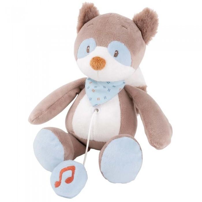 Мягкие игрушки Nattou Musical Soft toy Mini Jim & Bob Енот музыкальная 16 см мягкие игрушки nattou mini iris