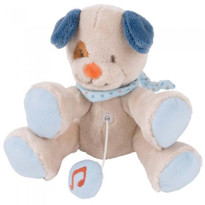 Купить Мягкие игрушки, Мягкая игрушка Nattou Musical Soft toy Mini Jim & Bob Собачка музыкальная 16 см