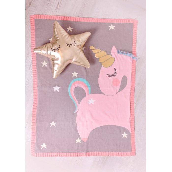 Купить Пледы, Плед Bizzi Growin Одеяло Unicorn вязанное 90х70 см