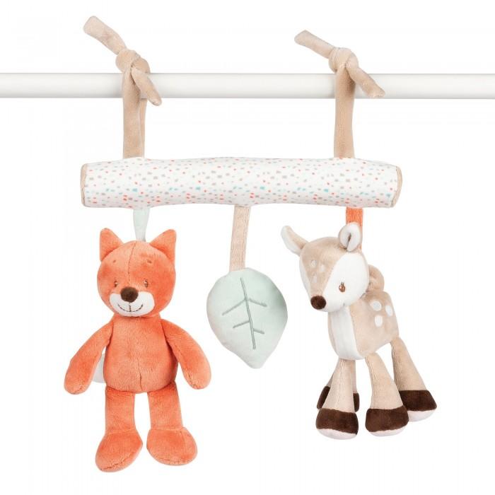 Картинка для Подвесные игрушки Nattou Soft toy Fanny & Oscar Оленёнок и Лисёнок на завязках 26см