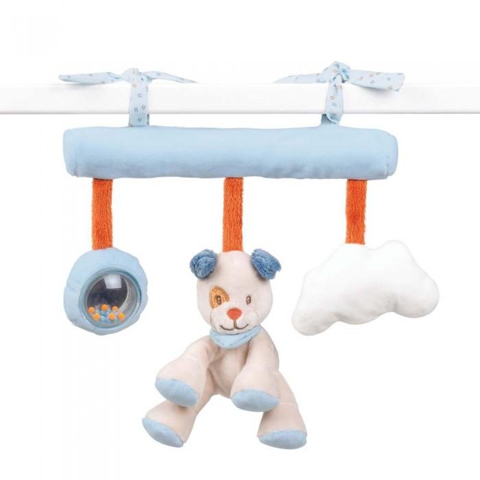 Купить Подвесные игрушки, Подвесная игрушка Nattou Soft toy Jim & Bob Собачка и Енот на завязках 34 см