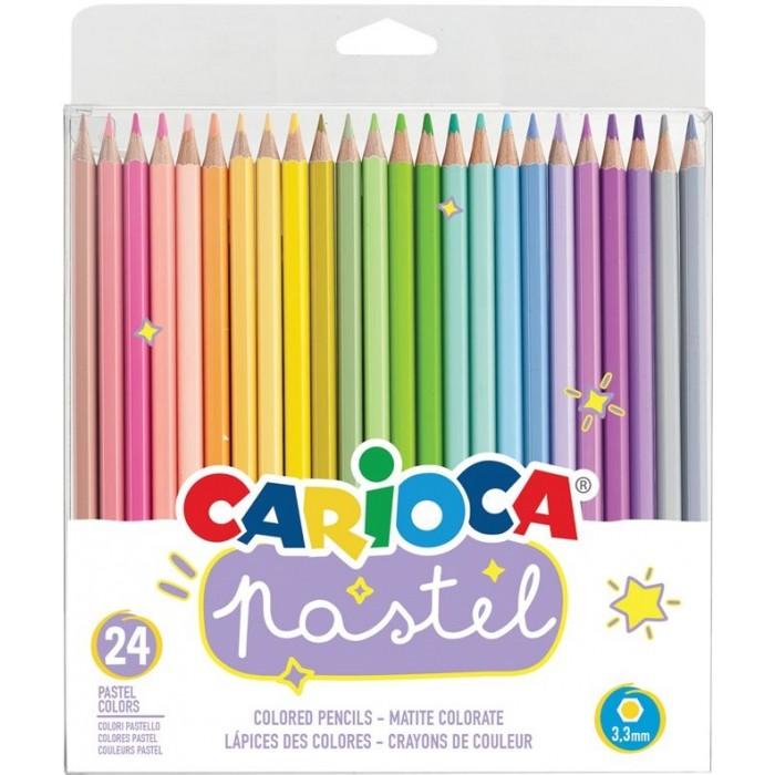 Carioca Карандаши цветные Pastel 24 цвета