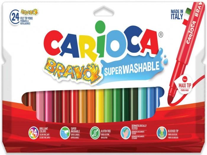 Фломастеры Carioca смываемые Bravo 24 цветов