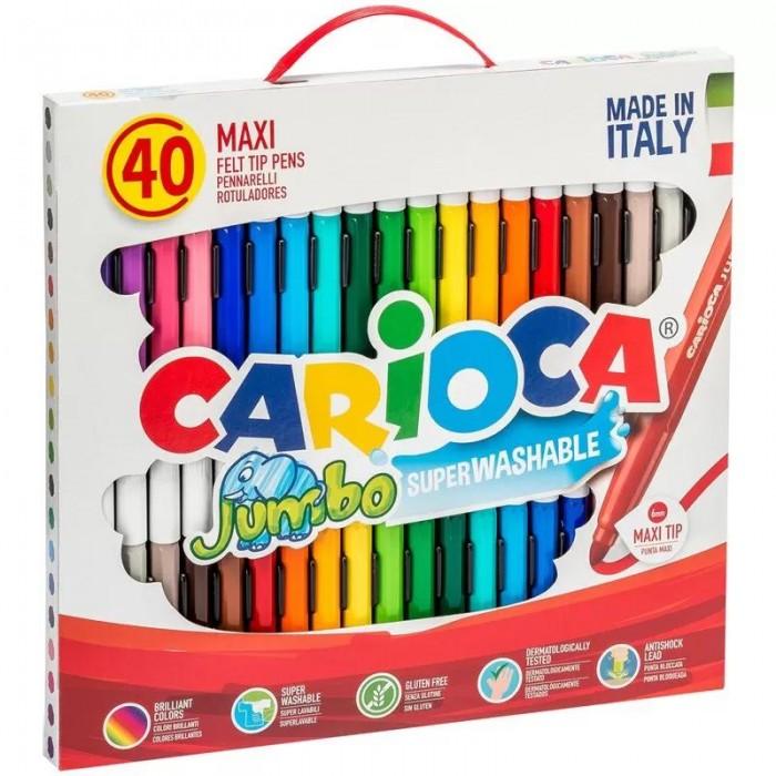 Фломастеры Carioca смываемые Jumbo 36 цветов 40 шт.